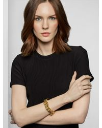 BaubleBar - Metallic Gold Mary Links Bracelet - Lyst