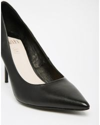 Faith - Cadillac Black Leather Pointed Heel Pumps - Lyst
