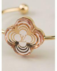 Louis Vuitton - Metallic Flower Charm Bracelet - Lyst