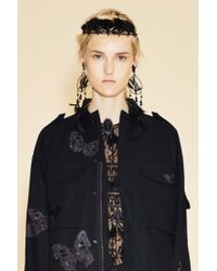 Valentino | Black Feather And Bead-embellished Headband | Lyst