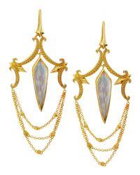 Stephen Webster - Yellow Large Crystal Haze Chandelier Earrings - Lyst
