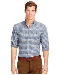 Polo Ralph Lauren | Green Plaid Twill Shirt for Men | Lyst