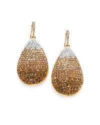 ABS By Allen Schwartz - Metallic Ombre Pave Drop Earrings - Lyst