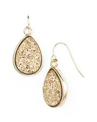 Marcia Moran | Metallic Drusy Teardrop Earrings | Lyst