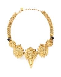 Ela Stone | Metallic Stone Lion Head Necklace | Lyst