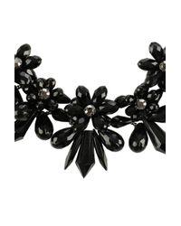 Coast | Black Floral Necklace | Lyst
