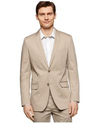 Calvin Klein | Natural Twill Slim-fit Suit Jacket for Men | Lyst