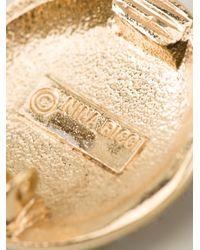 Nina Ricci - Metallic Flower Earrings - Lyst