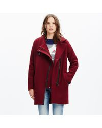 Madewell | Red City Grid Coat | Lyst