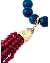 Rosantica | Blue Beaded Tassel Necklace | Lyst