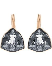 Swarovski | Metallic Brief Pierced Earrings | Lyst