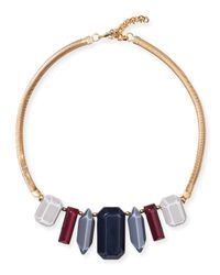 Lafayette 148 New York | Multicolor Mixed Stone Collar Necklace | Lyst