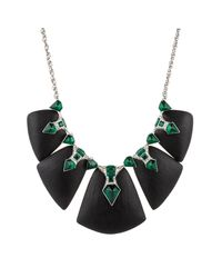 Alexis Bittar - Black Crystal Deco Petal Bib Necklace You Might Also Like - Lyst