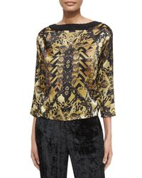 Etro - Black Bead Embellished Silk Top - Lyst