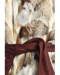 A.L.C. - Gray Lilly Fox Fur Vest - Lyst