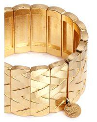 Philippe Audibert   Metallic 'alienor' Braided Elastic Bracelet   Lyst