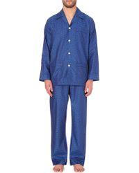 Derek Rose   Blue Baroque-print Cotton Pyjamas for Men   Lyst