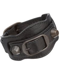 Balenciaga - Black Arena Classic Bracelet - Lyst
