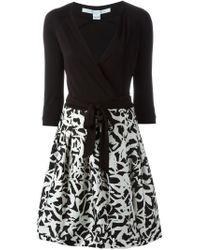 Diane von Furstenberg - Black Wrap Printed Dress - Lyst