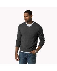 Tommy Hilfiger | Gray Big & Tall V-neck Sweater for Men | Lyst