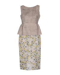 Giambattista Valli - Gray 3/4 Length Dress - Lyst