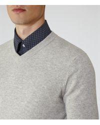 Reiss - Gray Castleford Cashmere V-neck Jumper for Men - Lyst