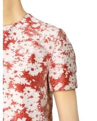 Stella McCartney - Red Daisy Cotton Blended Jacquard Top - Lyst