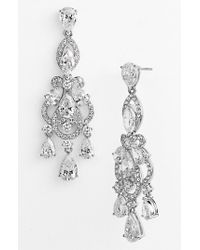 Nadri | Metallic 'legacy' Crystal Chandelier Earrings | Lyst