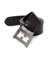 Fendi | Black Colorado Zucca Reversible Leather Belt for Men | Lyst