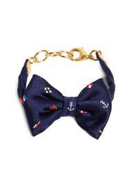Brooks Brothers - Blue Kiel James Patrick Navy Nantucket Bow Bracelet - Lyst
