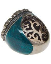 M.c.l - Blue Gothic Flower Ring - Lyst