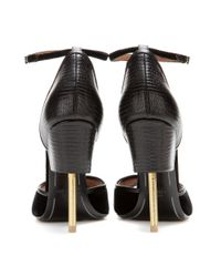 Givenchy - Black Matilda Leather And Velvet Sandals - Lyst