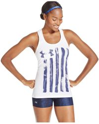 Under Armour | Blue Ua Painted Flag Racerback Tank Top | Lyst