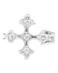 Stone - 18kt White Gold Bracelet With White Diamonds - Lyst