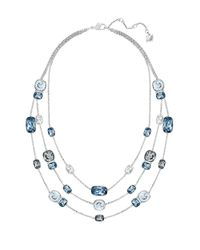 Swarovski | Blue Divinity Crystal Nested Scatter Necklace | Lyst