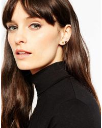 ASOS | Metallic Pack Of 2 Triangle And Spike Stud Earrings | Lyst