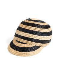 Maison Scotch - Black Women'S Straw Baseball Cap - Lyst