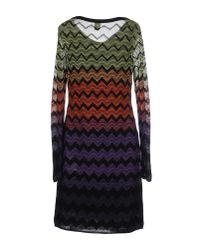 M Missoni | Orange Short Dress | Lyst
