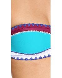 Same Swim - Blue The Babe Bandeau Bikini Top - Lyst