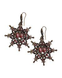 Alberta Ferretti - Red Earrings - Lyst