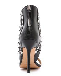 L.A.M.B. - Black Savannah Strappy Sandals - Lyst