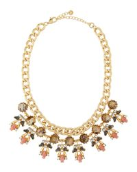 Lydell NYC | Metallic Rhinestone-Cluster Bib Necklace | Lyst