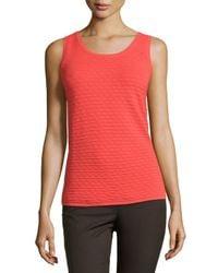 Natori - Pink Textured Knit Sweater Tank - Lyst