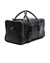 Thom Browne - Black Grained Leather with Blue - Lyst