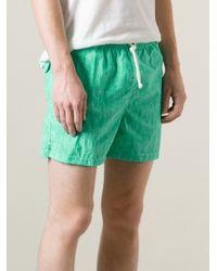 Kiton - Green Classic Swim Shorts for Men - Lyst