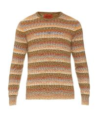 Missoni - Multicolor Long-sleeved Cotton And Wool-blend Knit Top for Men - Lyst