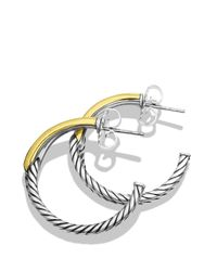 David Yurman | Metallic Labyrinth Hoop Earrings And Gold | Lyst