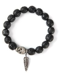 Loree Rodkin - Black Skull and Feather Bracelet - Lyst