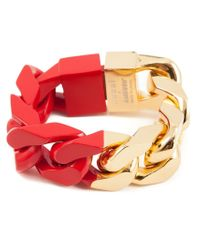 Sacai - Red Chain Link Bracelet - Lyst