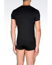 Emporio Armani | Black Microfiber Undershirt for Men | Lyst